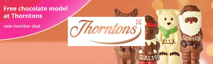 3 Free Chocolate Models from Thorntons.