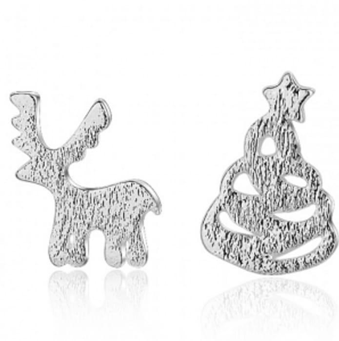 Free Silver Christmas Earrings