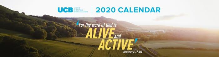 Get Your Free UCB 2020 Calendar (Option to Donate)