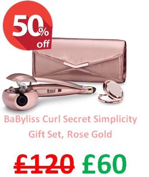 HALF PRICE at AMAZON! BaByliss Curl Secret Simplicity Gift Set, Rose Gold