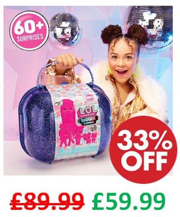 SAVE £30! L.O.L. Surprise! Bigger Surprise Winter Disco & Exclusive O.M.G. Doll