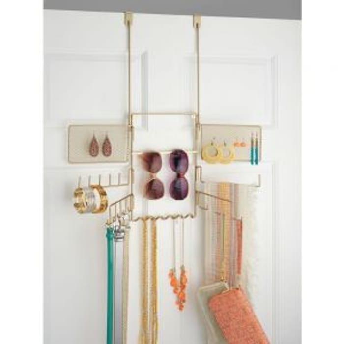 InterDesign Classico Hang over the Door Jewellery Organizer