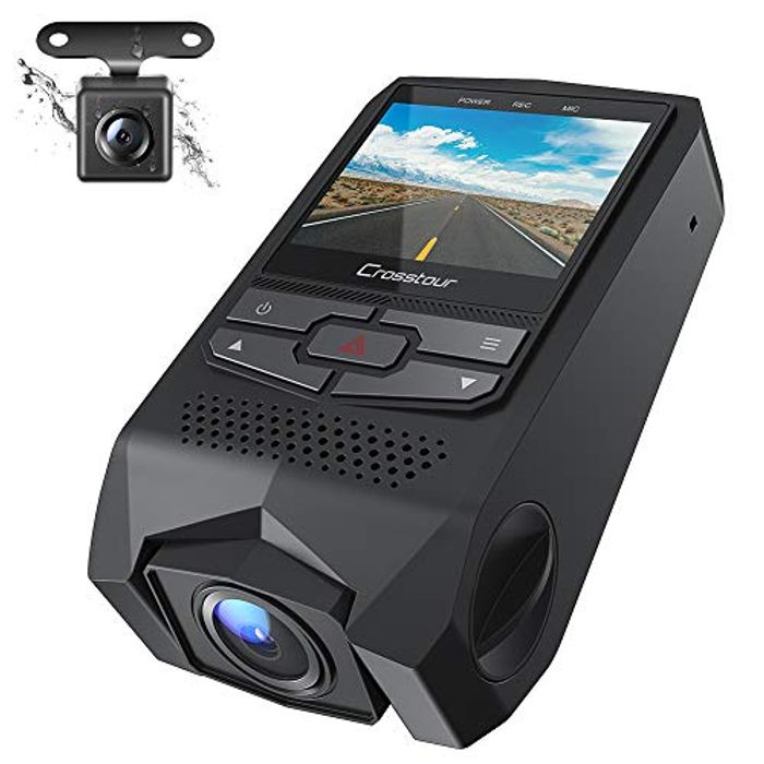 Cheap Dash Cam Front and Rear Dual FHD 1080P Mini in Car Camera, Only £45.99!