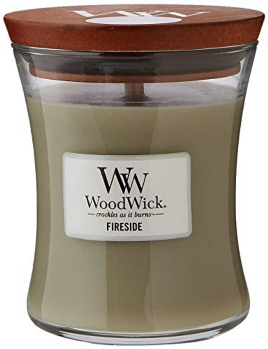 WoodWick Scented Candle, Medium, Fireside