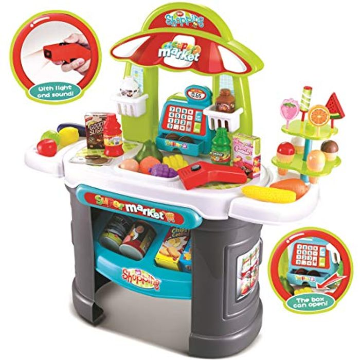 Shop Playset with over 30 Pretend Food Accessories