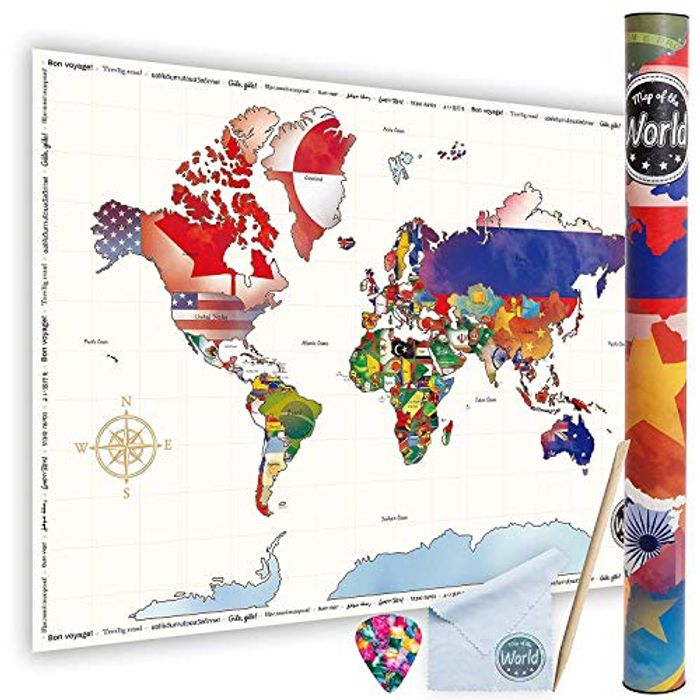 Scratch-off World Travel Map Poster