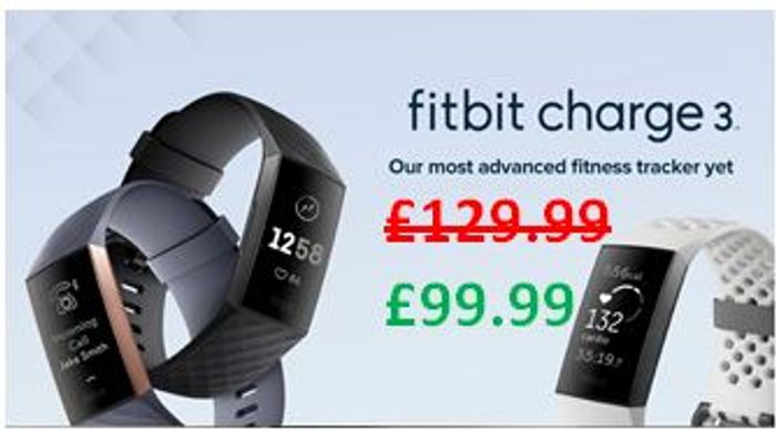 £30 off at AMAZON: Fitbit Charge 3 Advanced Fitness Tracker (Several Colours)