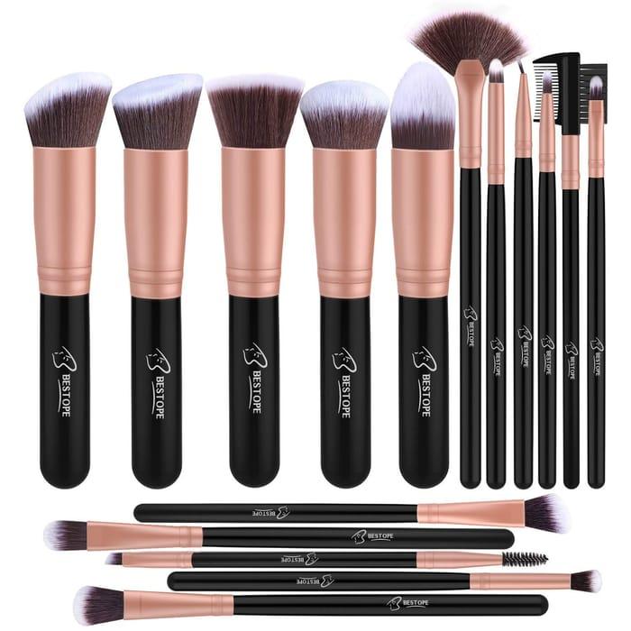 Cheap Makeup Brush Set Professional 16-Piece, Only 8.99!