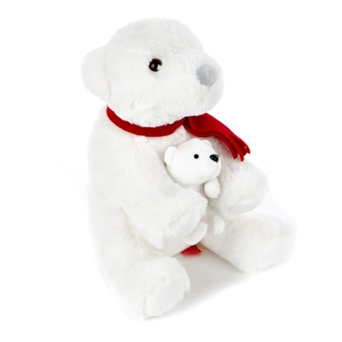 Christmas Polar Bear Soft Toy