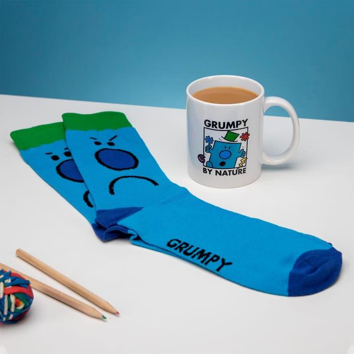 Mr Men Mr Grumpy Standard Mug and Socks Set
