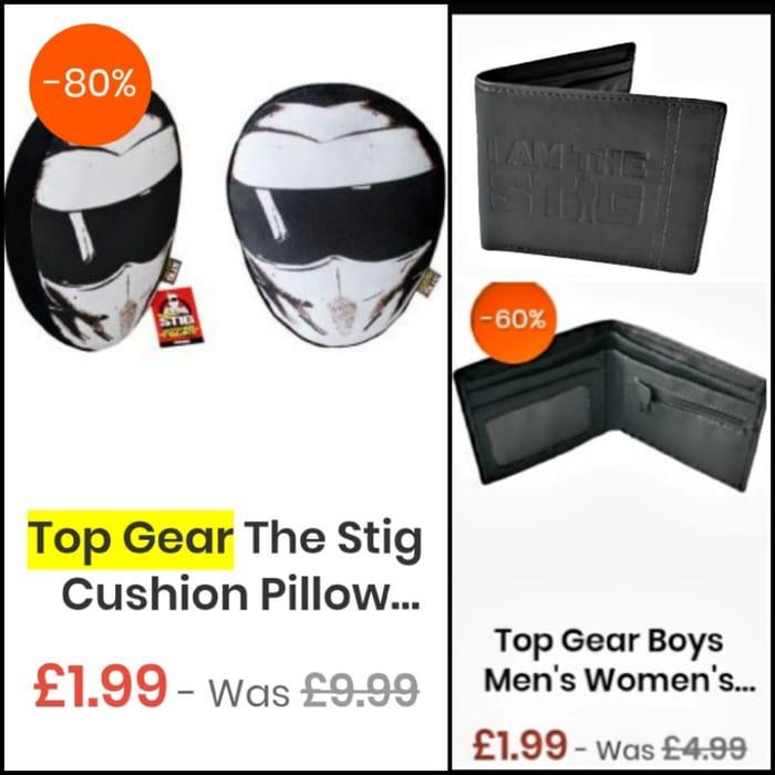 THE STIG (Top Gear) Cushion and Wallet £1.99 Each.