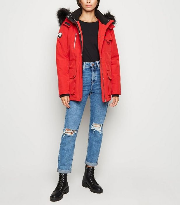 Cheap Red Faux Fur Parka Coat at New Look, Only £27!