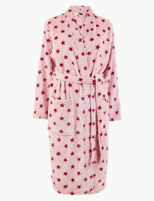 Marks & Spencer - Ladies Pink Star Dressing Gown £10 - Free Click and Collect