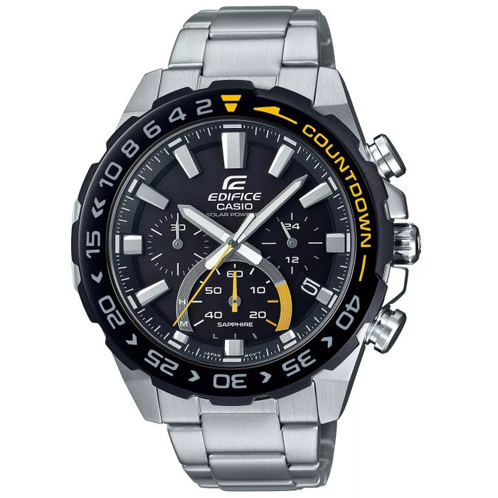 Casio Edifice Countdown Men's S/Steel Bracelet Watch (Discount at Checkout)