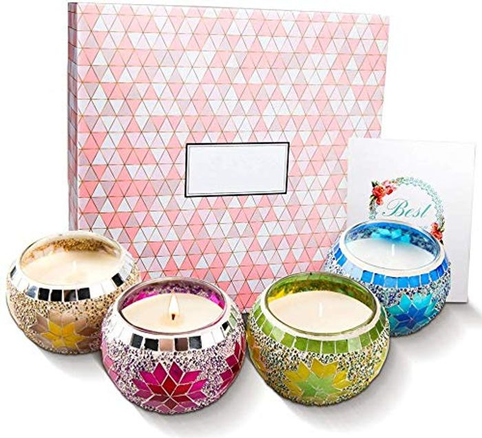 Mosaic Scented Candles Gift Set