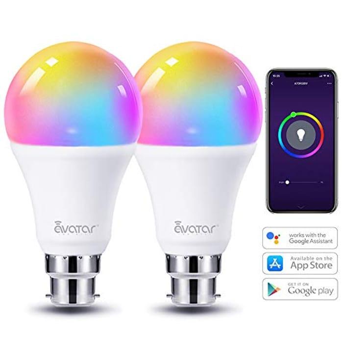 WiFi Smart Bulb Alexa Light Bulbs B22 Bayonet 8W - Works in Alexa/Google Home