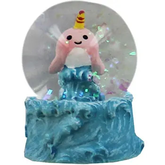 Mini Narwhal Snow Globe - Assorted at The Works