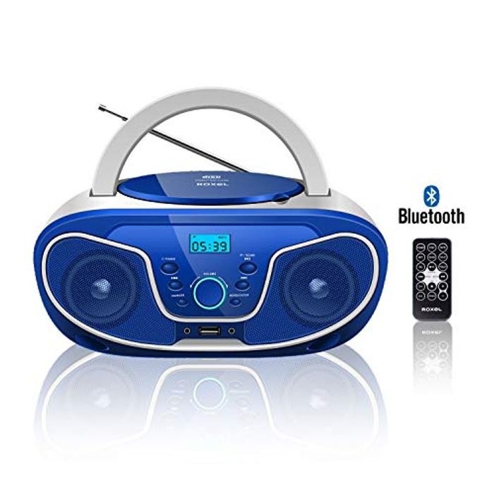 Roxel RCD-S70BT Portable Boombox CD Player with Bluetooth