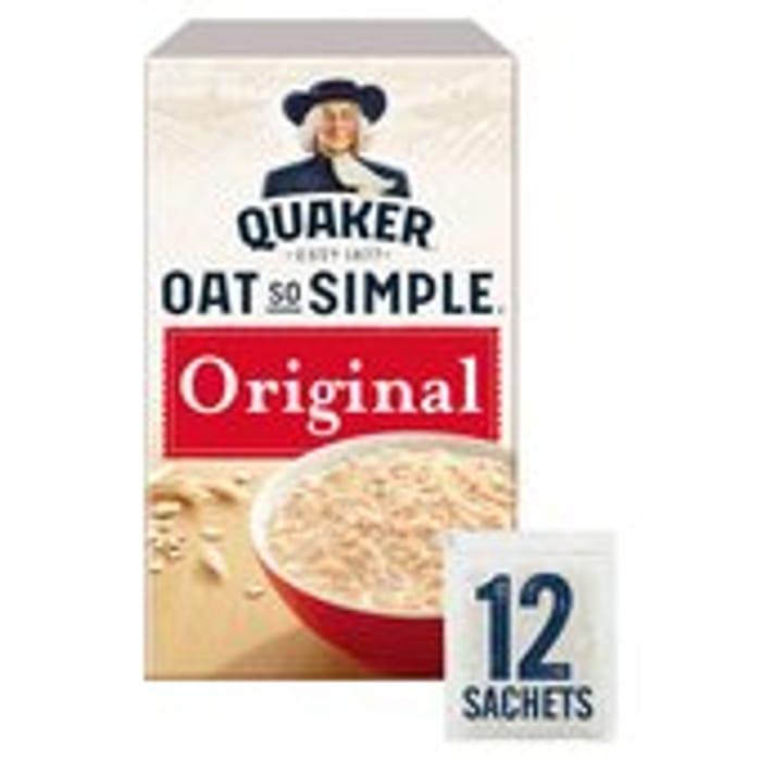 Offer - Quaker Oat so Simple Original Porridge 12 X 27g