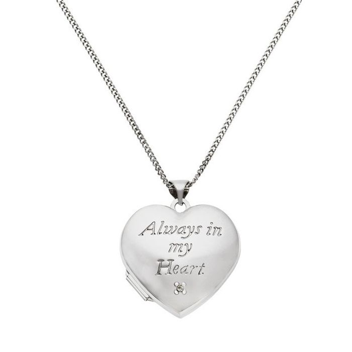 Moon & Back 'In My Heart' Photo Locket 18 Inch Necklace - Save £30!