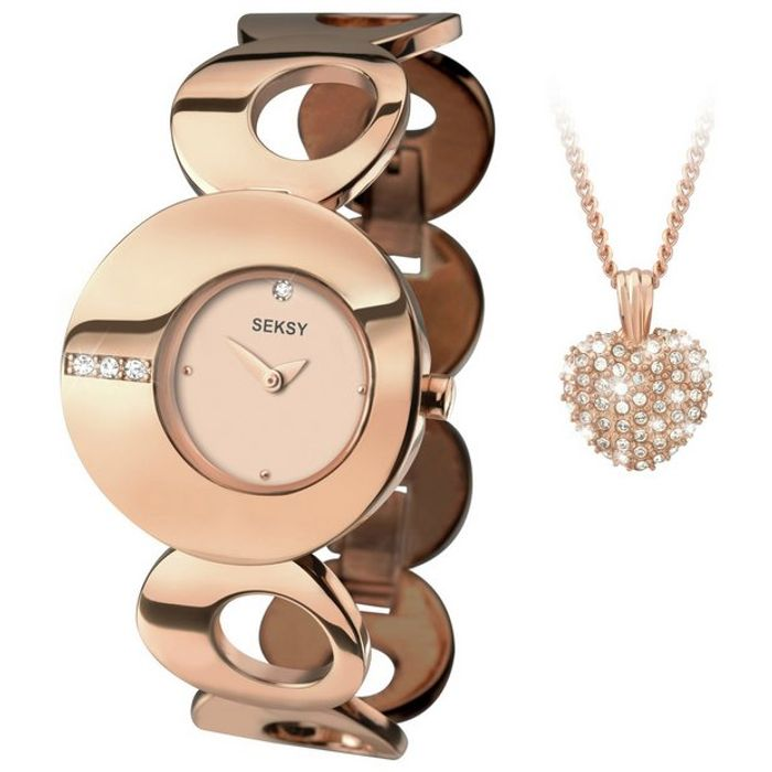 Eclipse Rose Gold Plated Watch and Pendant Set - Save £60!