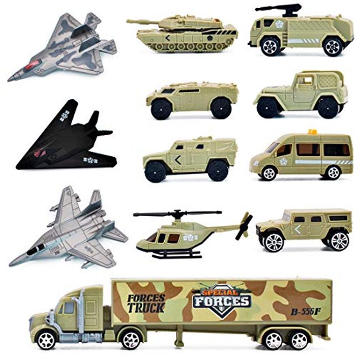 12 Pieces Military Vehicles Toy Play Set - 62% Off!