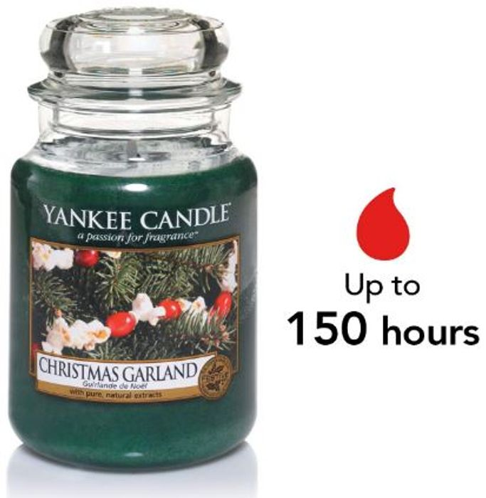Yankee Candle Large Jar - CHRISTMAS GARLAND