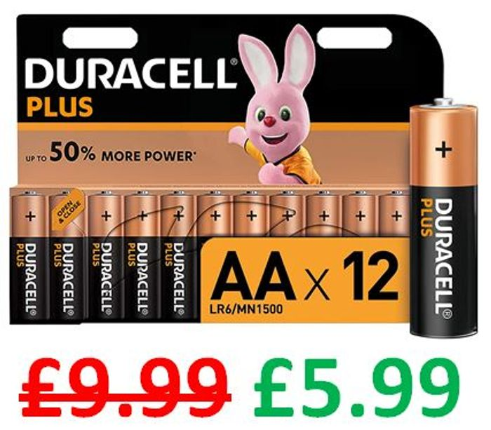 Best Price! AMAZON DEAL - Duracell plus AA Alkaline Batteries - Pack of 12
