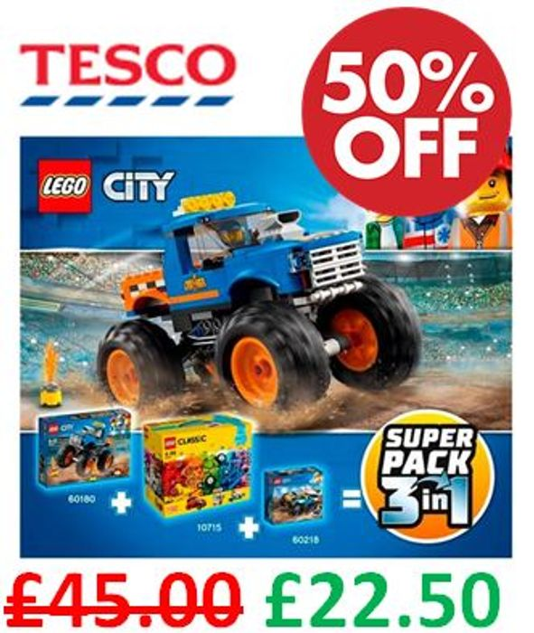 1/2 PRICE at TESCO! LEGO Superpack 66615