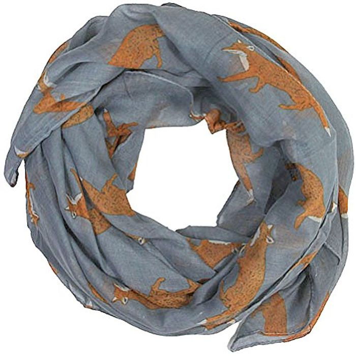 Womens Fox Print Scarf for £1.67 Delivered