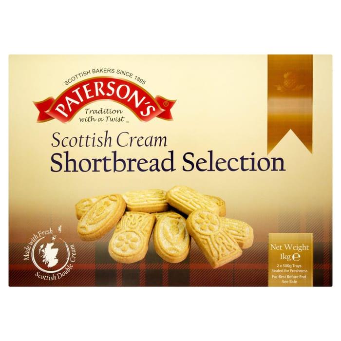 Paterson's Scottish Cream Shortbread Selection 2 X 500g (1kg) - Save £0.50!