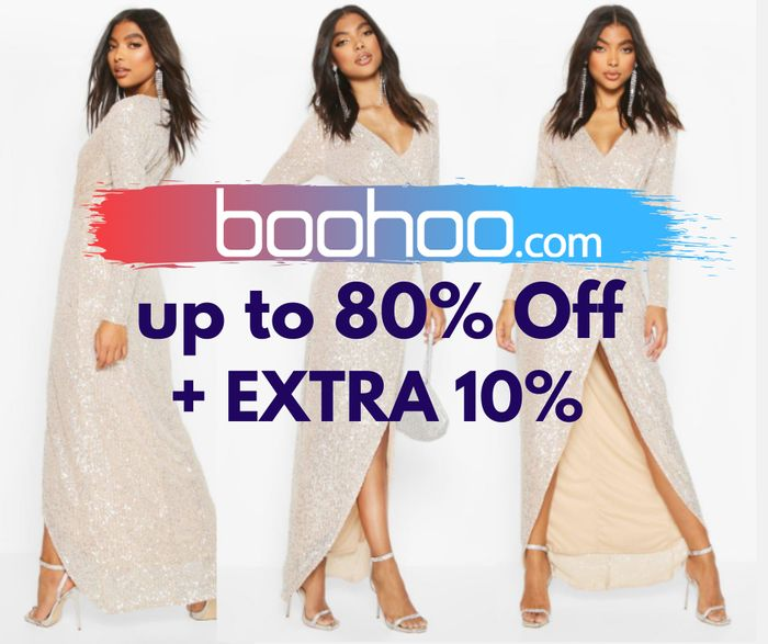 boohoo - Up To 80% Off + EXTRA 10% Off With Code