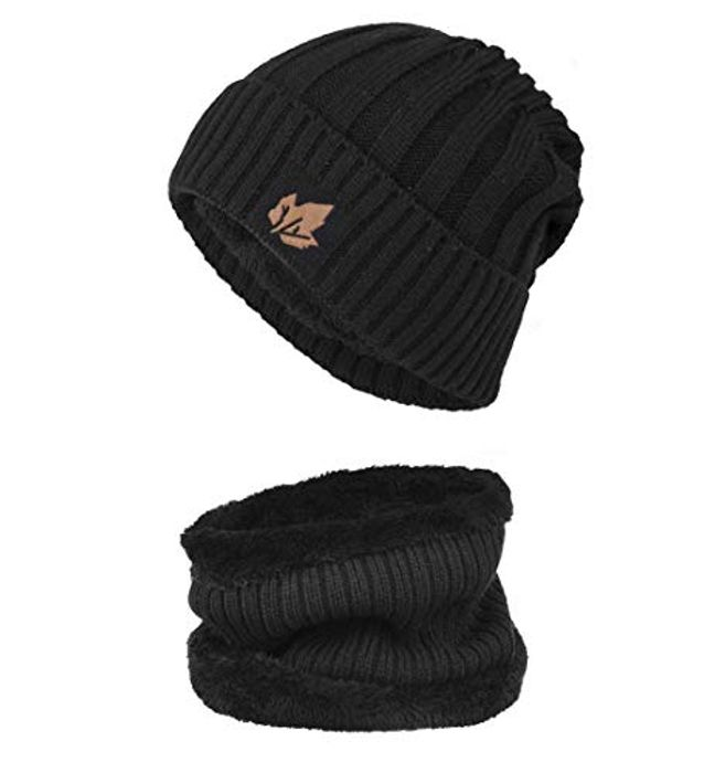 Beanie Hat Scarf Set Thick Knit - HALF PRICE!