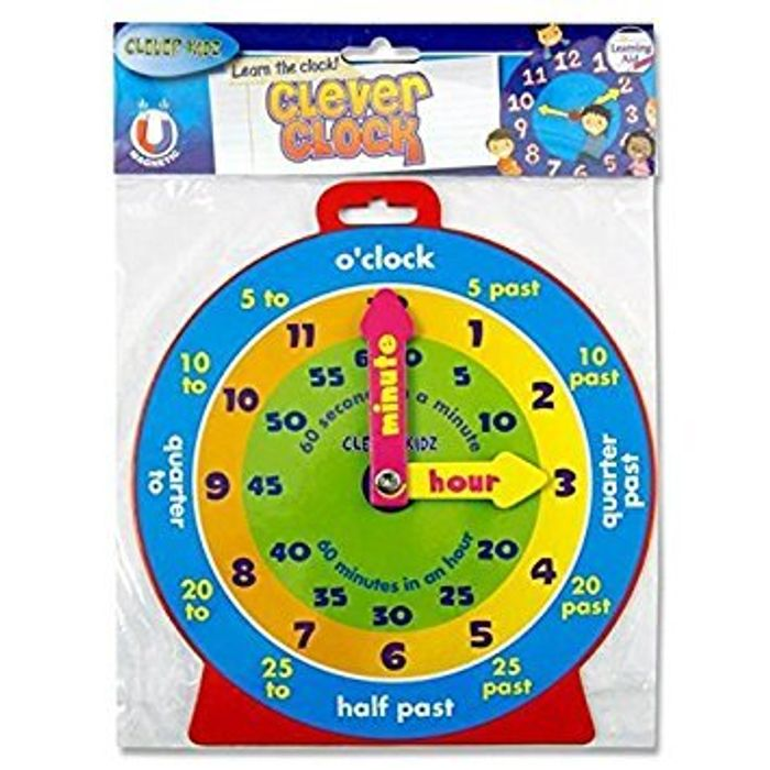 Magnetic Kids Learning Clock FREE DELIVERY - Save £1.59!