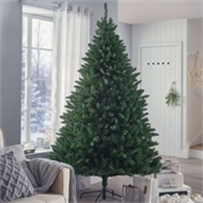 Cheap 7ft Premium Dark Green Balmoral Christmas Tree - Save £40!