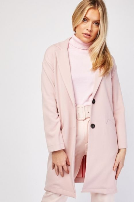 Best Price! Slanted Pocket Front Coat at Everything 5 Pounds