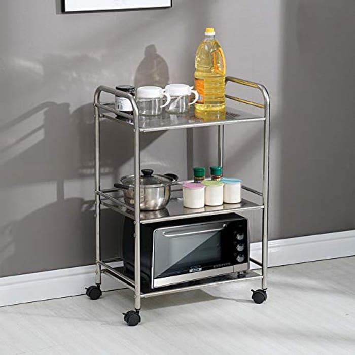 Best Price! Kitchen or Salon Trolley Stainless Steel