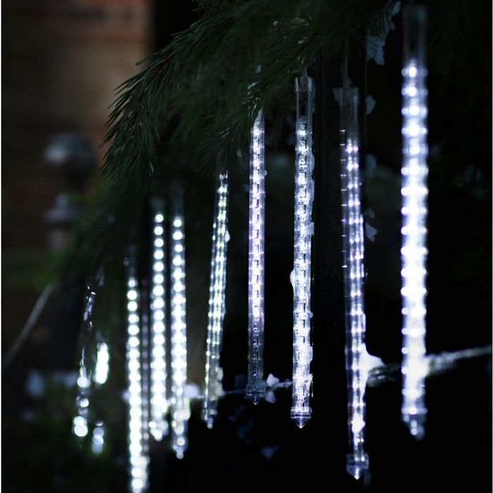 Argos Home Bright White Chasing Waterfall LED Lights 9m