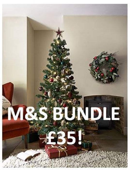 6ft Christmas Tree Bundle at Marks and Spencer