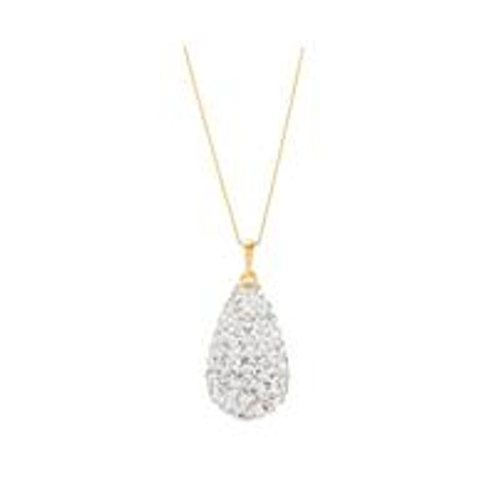 Cheap 9ct Gold Crystal Glitter Bomb Necklace at Very, Only £25!