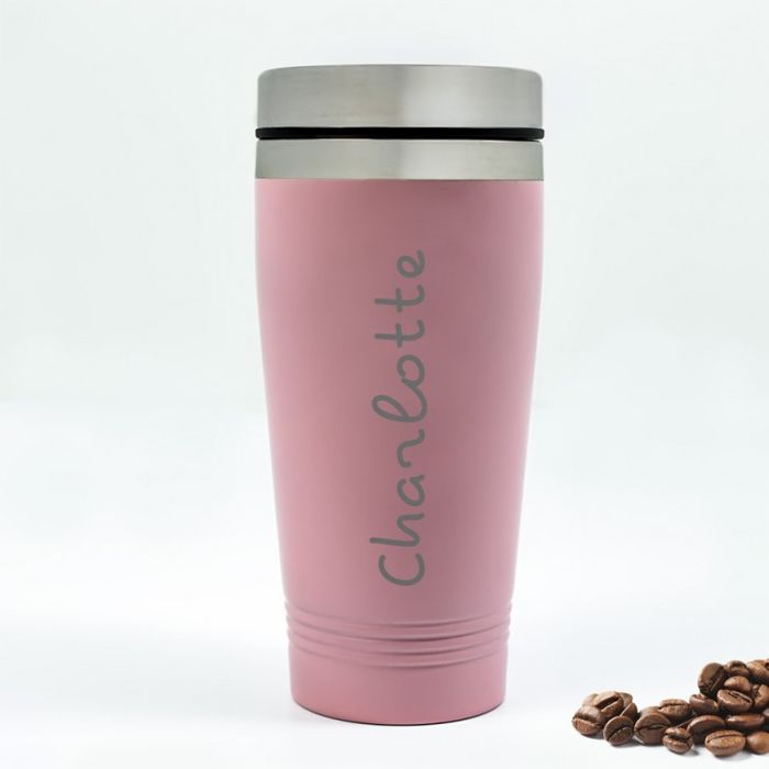 Personalised Pink Travel Mug - Island Style