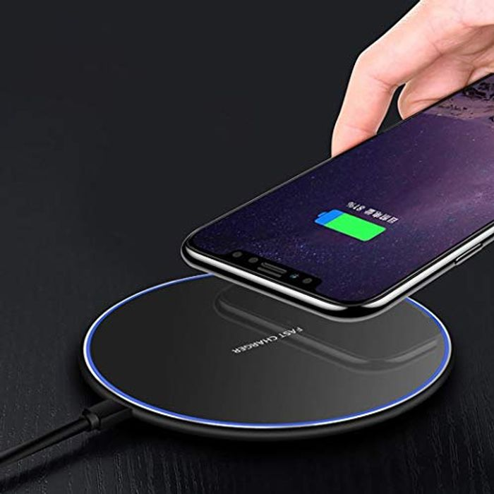 pioleUK 10W Smart QI Wireless Charger Metal Desktop Phone Fast Charge