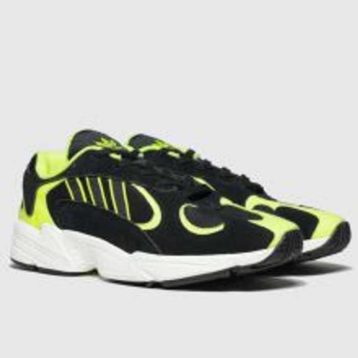 Adidas Black & Green Yung-1 Trainers