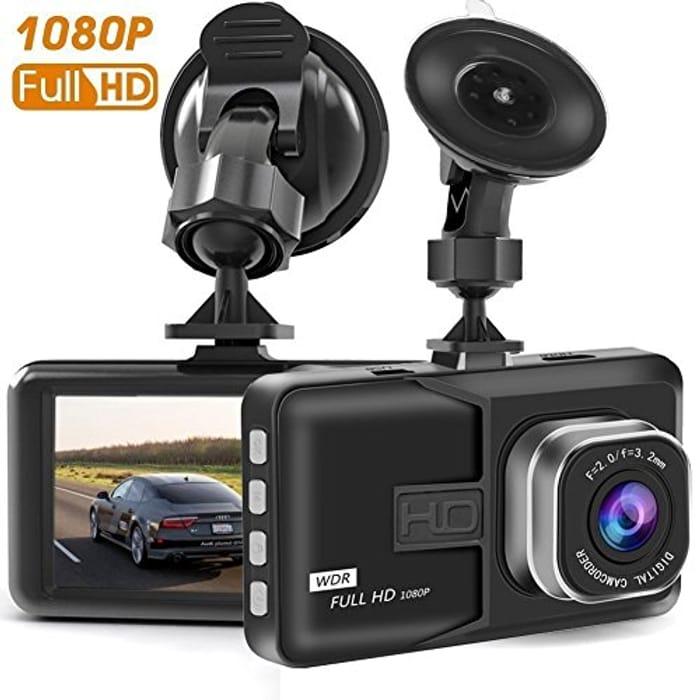 Lightning Deal Dash Camera, Full HD 1080P