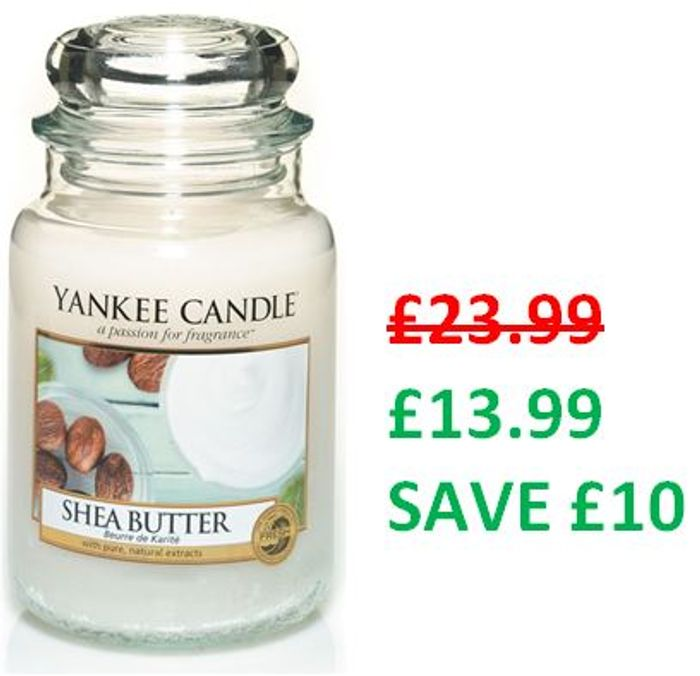 £10 off at Amazon - Yankee Candle Large Jar Scented Candle, SHEA BUTTER
