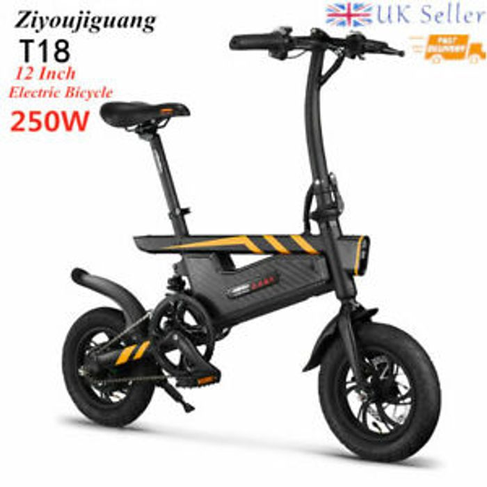T18 Electric Folding Bike E-Bike 25km/h UK