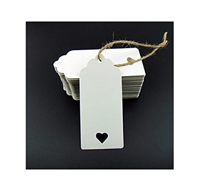 100pcs White Kraft Paper Tag