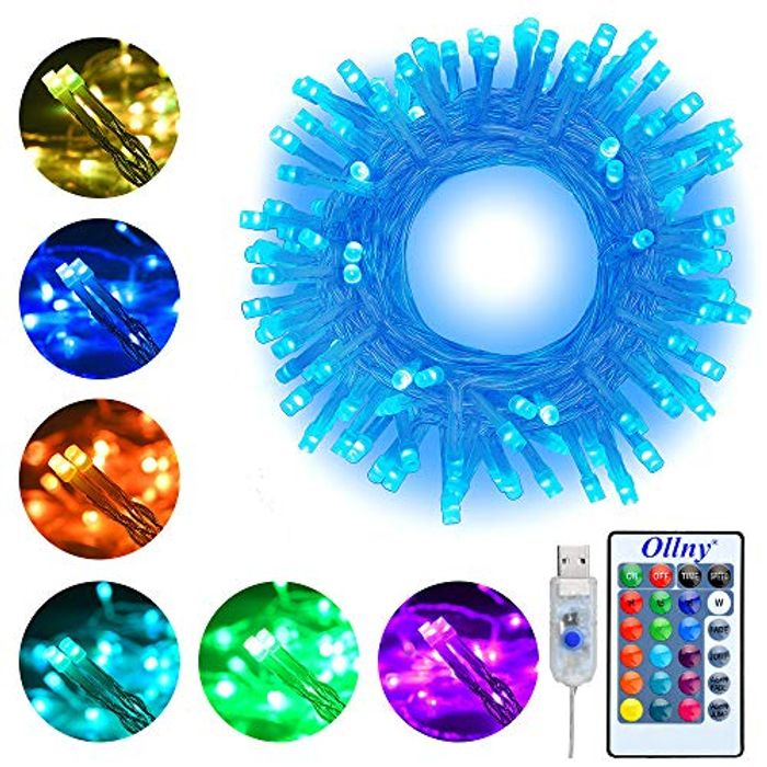 LED String Lights 10m 100 LEDs 16 Colors Changing Ollny Fairy String Lights