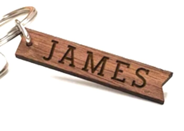Free Personalised Wooden Keyring worth £6.95 Only £2.49 Del + Other Gift Ideas