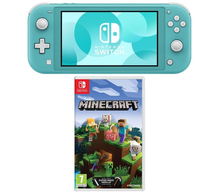 NINTENDO Switch Lite & Minecraft Bundle - Turquoise Only £199